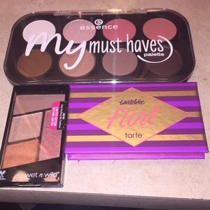 Tarte, wet n wild, essence eyeshadow lot